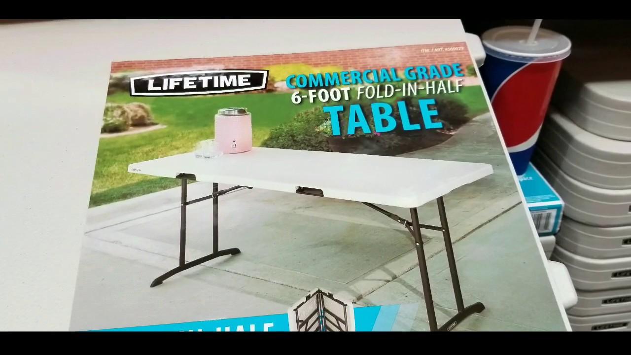 Lifetime Commercial Grade 6 Ft Folding Table 49