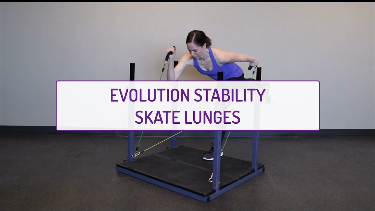 Home Exercises | Evolution Stability Skate Lunges | Cardio & Stability | Arms & Legs