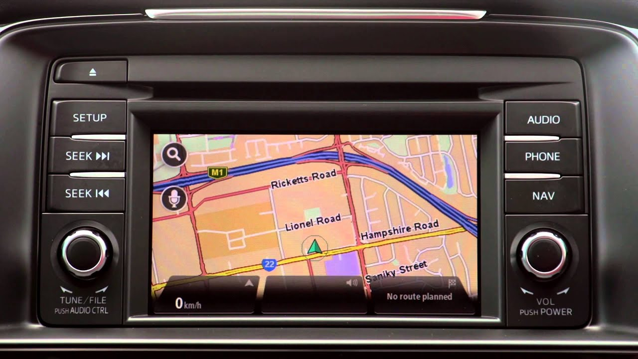 how to set a destination using the satellite navigation system v2 in rh youtube com Mazda CX-7 Navigation System Mazda 5 Navigation Sytem Manufacturer