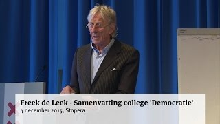 Freek de Leek -  Samenvatting college 'Democratie'