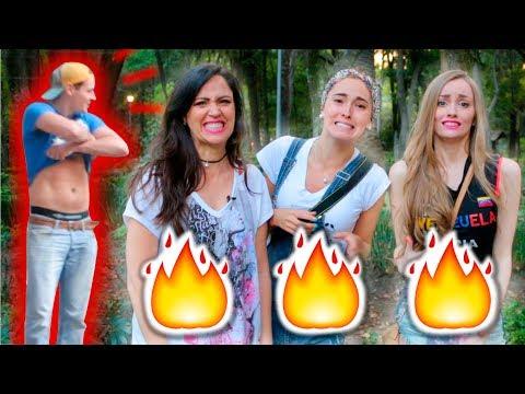 Piropos en la calle con frases de reggaeton BROMAS ft. Sandra Cires Art y Katie Angel Tv