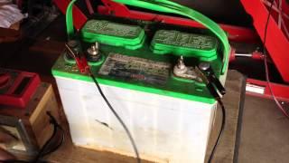 Lead Acid Battery Desulfation Using Epsom Salt  -After Overnight Full Charge   Part 4 of 6