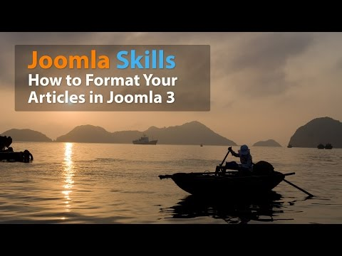 How To Format Your Articles In Joomla 3