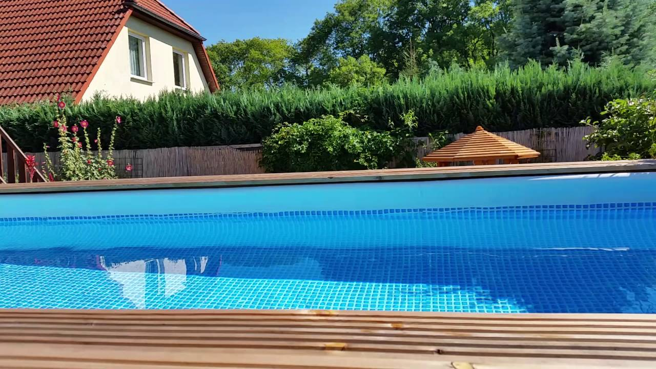 Pool Mit Umrandung Intex Pool Mal Anders