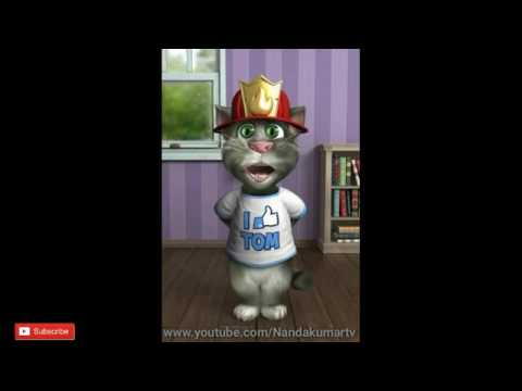 Talking Tom ||  Bali Bali Ra Bali Bahubali 2 Song by TOM Funny Video