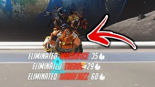 Insane 100% AFK HEXAKILL? - Overwatch Funny Moments #56