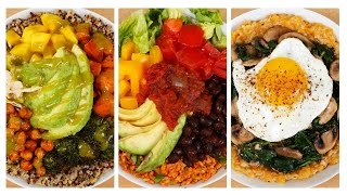 3 Healthy Power Bowls | Collab with Mind Over Munch