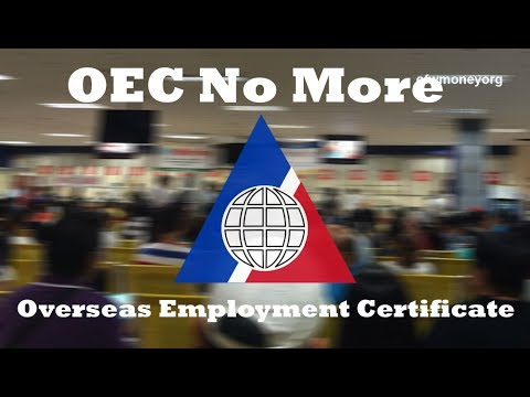 OEC Overseas Employment Certificate ( NO MORE ) Good News  sa Lahat