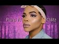 Purp N' Glitz    Simple Glitter Eye Makeup Tutorial