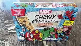 Avengers Granola Bar Taste Test With Thor, Hulk, Iron Man, Captain America, & Spiderman