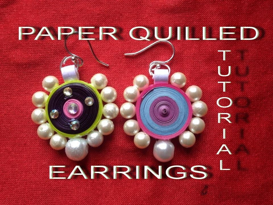 How to make paper quilling earrings easy method design-3 ...