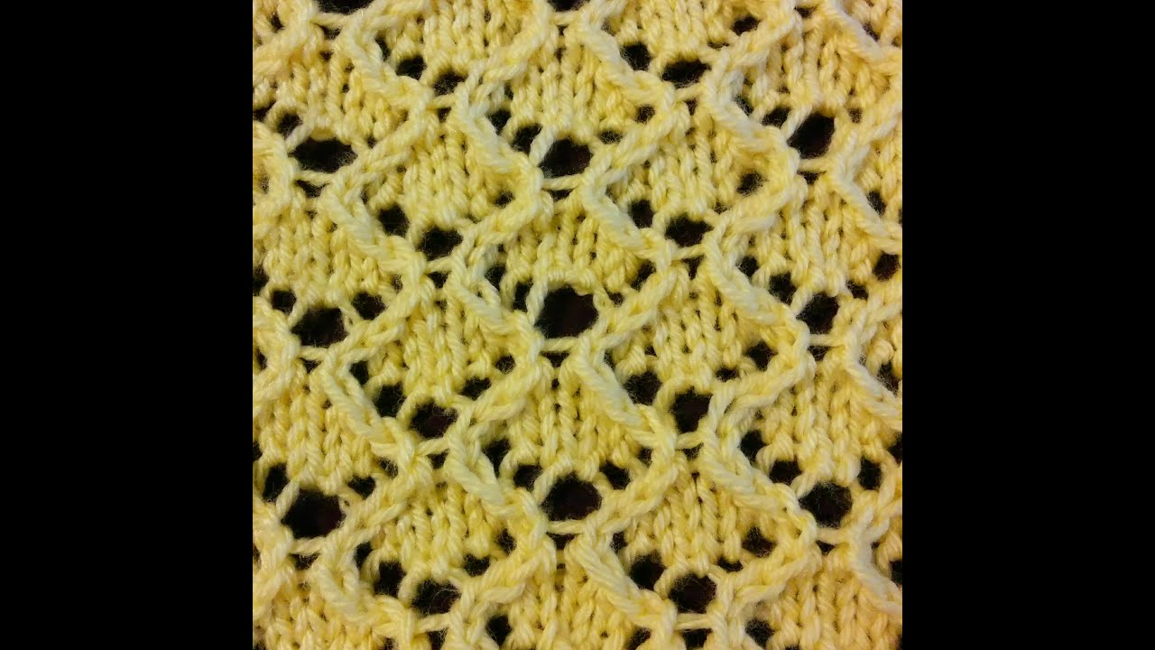How to Knit the Diamond Lace Stitch - YouTube
