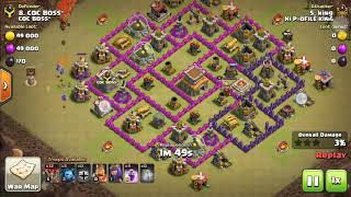 TOWN  HALL ( TH 8 ) EIGHT BALLOONION ATTACK STRATEGY.......