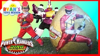 POWER RANGERS Dino Super Charge Giant Egg Surprise Opening