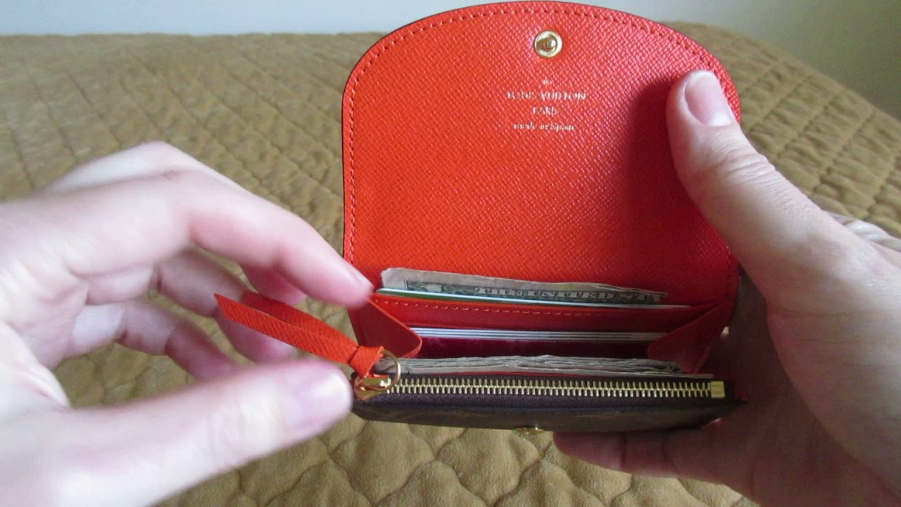 a980f8c491d16 Louis Vuitton Rosalie Coin Purse Wallet - YouTube