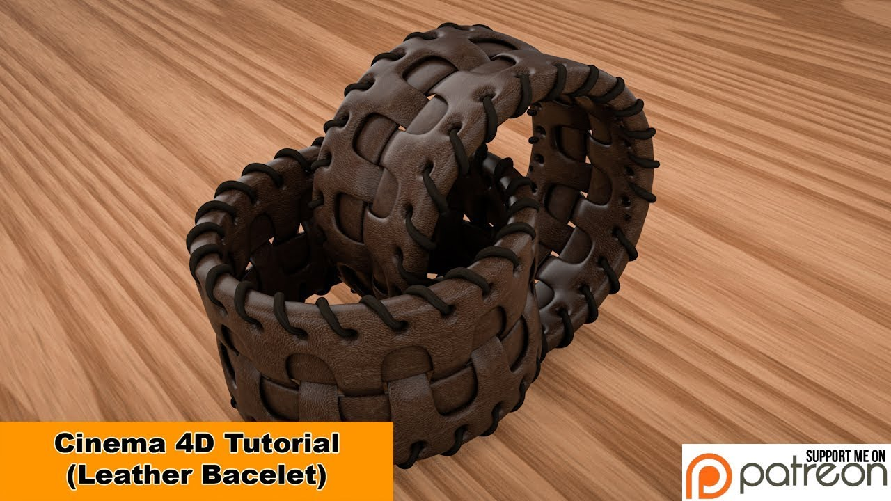 Leather Bracelet (Cinema 4D Tutorial)