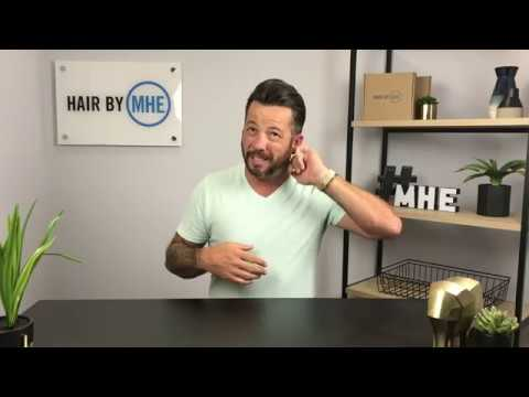 My $25 Dollar Hair Replacement Hair System Cut In