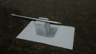 Easy Drawing How to Draw 3D Cube with Shadow_Trick Art On Paper for Kids