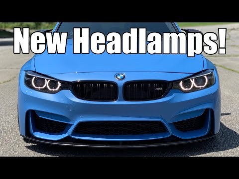 DIY painted headlamp bezels removal, retrofit and install on a BMW M3 /M4 (Xenon and LED)