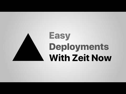 Easy Deployments With Zeit Now