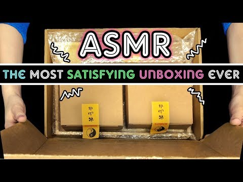 ASMR * THE MOST SATISFYING UNBOXING EVER * NO TALKING (ft.  ICNBUYS Zen garden)