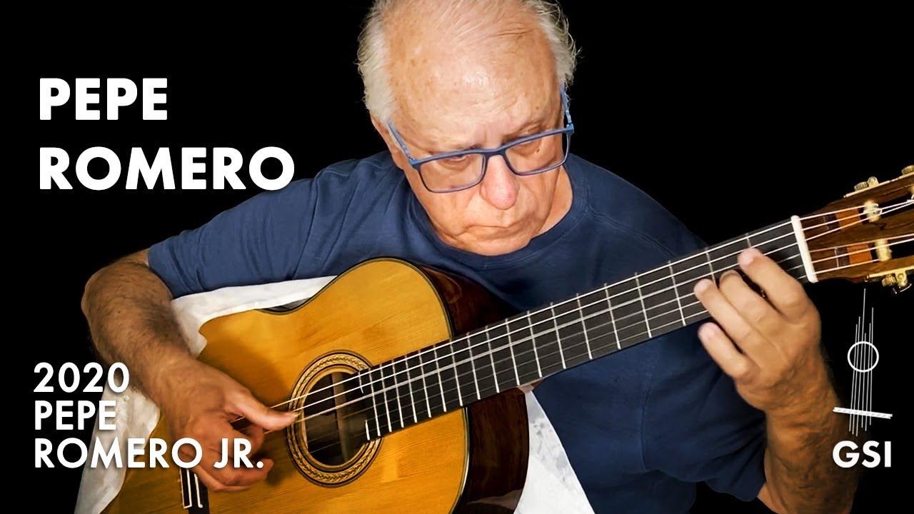 """Sneak peek: new 2020 Pepe Romero """"Dome"""" guitar played by Pepe Romero Sr. before arrival to GSI"""
