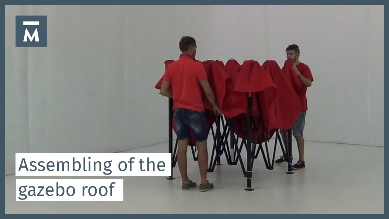 Assembling of the roof - MASTERTENT folding tent & Assembling of the roof - MASTERTENT folding tent - YouTube