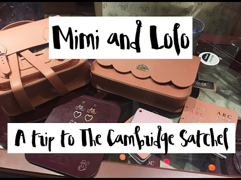 A visit to The Cambridge Satchel store, Covent Garden