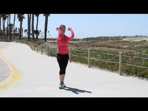 How to Walk With Free Weights : Walking & Other Fitness Tips