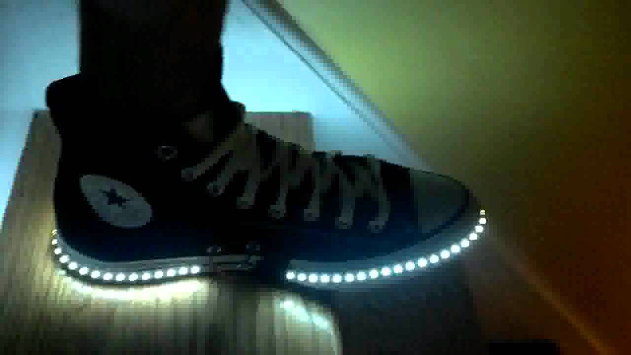 DIY LED shoes for adults - YouTube a246782395ae
