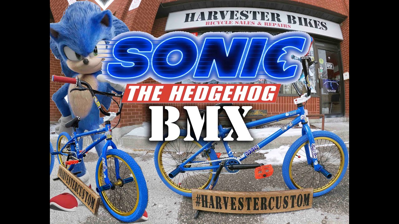 Sonic The Hedgehog Custom Bmx Harvester Bikes Youtube