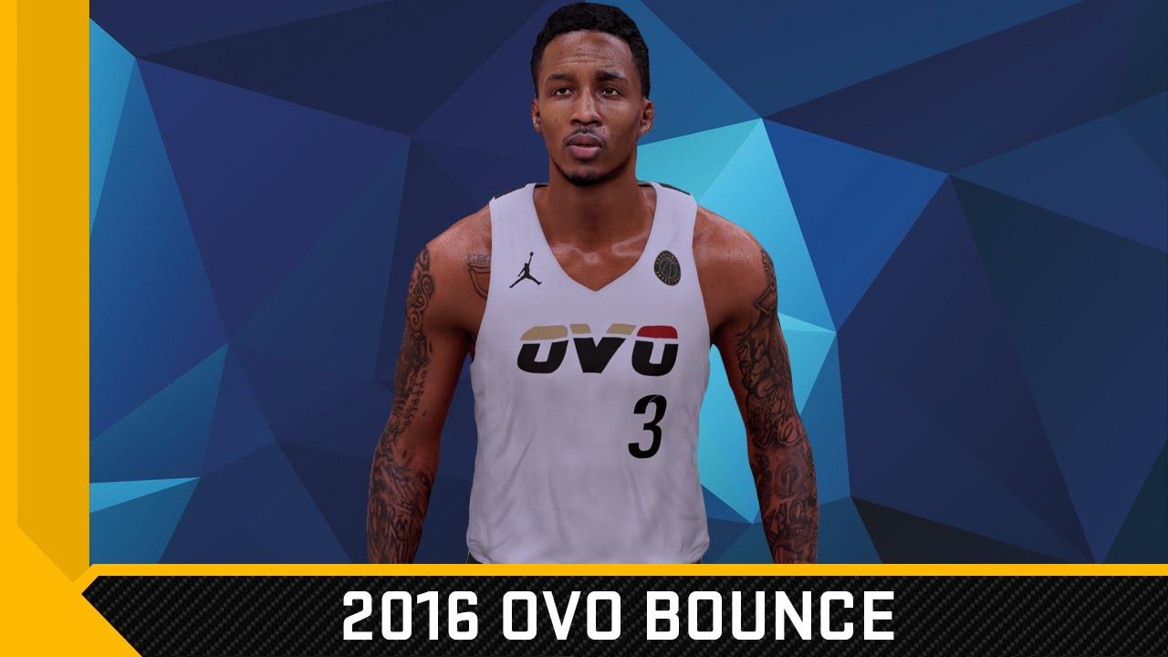 NBA 2K16 2016 OVO Bounce Jersey   Court Tutorial - YouTube 933448ef2