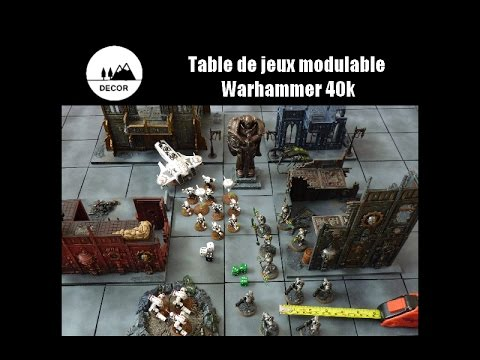 Tuto Décor Table De Jeux Modulable Warhammer 40k Basique Youtube