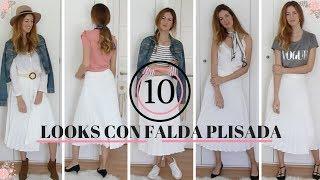 10 Looks con falda plisada DE NUEVA TEMPORADA