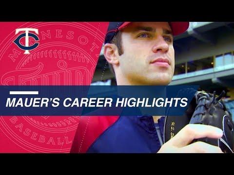 A look at Twins legend Joe Mauer's career highlights