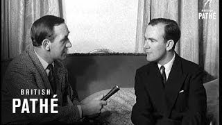 Various.sv. pathe reporter bill symon interviewing lord john edward poynder grigg altrincham in his home at lowndes square, london. cu. altrincham. pan ...
