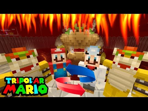 MARIO AND BOWSER TIME TRAVEL! *FUTURE!*  Nintendo Fun House  Minecraft Switch 315