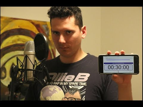 Making a Rap Song in 30 Minutes!