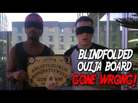 OUIJA BOARD CHALLENGE *BLINDFOLDED* - GONE WRONG!