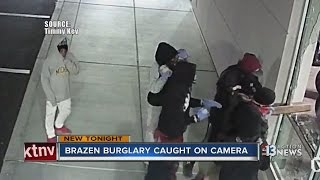 Brazen burglary caught on camera at Yamaha dealership