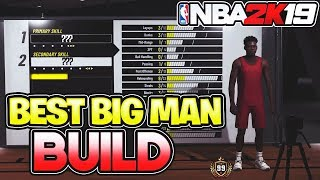 BEST BIG MAN BUILD TO WIN GAMES IN NBA 2K19