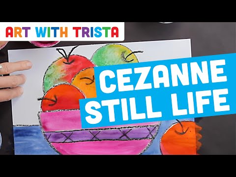 Art With Trista - Paul Cezanne Inspired Still Life - Step By Step