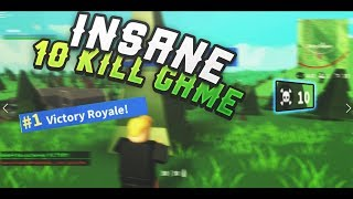 CRAZY 10 KILL VICTORY IN ISLAND ROYALE! (Roblox Island Royale)