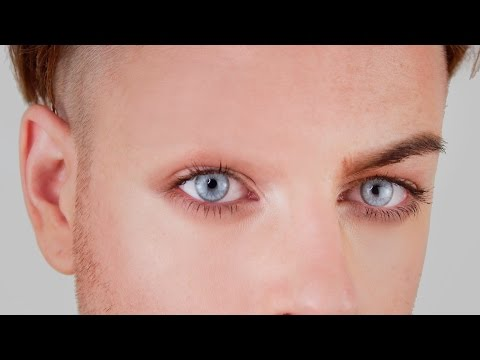 COVER BROWS WITH GLUE + FOUNDATION - DRAGQUEEN GLUESTICK TUTORIAL