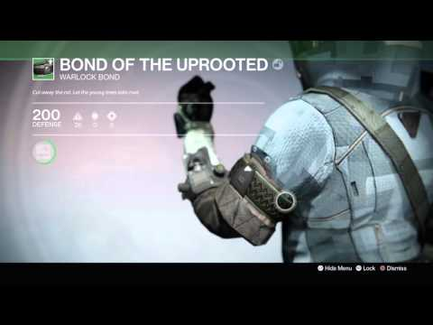 Destiny: The Taken King - Bond of the Uprooted (Warlock Bond) Information Tree & Appearance Demo PS4