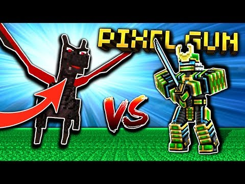 ROBOT SAMURAI VS. DRAGON!! | Pixel Gun 3D [New Update]