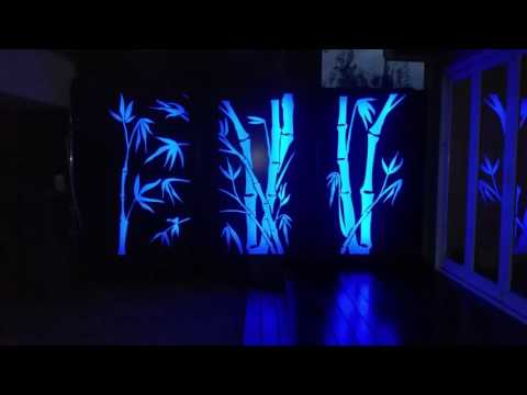 For Sale - Decorative Garden Bamboo Light Feature - 3 Panel Set