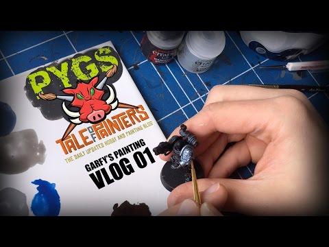 Garfy Paints a Deathwatch Space Marine VLOG #01