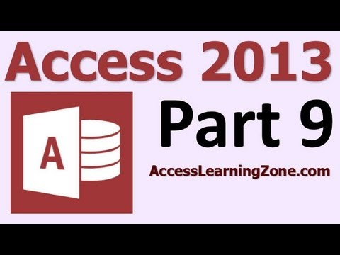 Microsoft Access 2013 Tutorial Level 1 Part 09 of 12 - Customer Queries