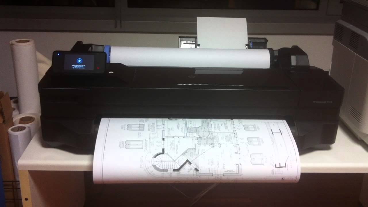 Hp Designjet T120 24 Quot Youtube